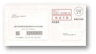 配達される封筒の外観